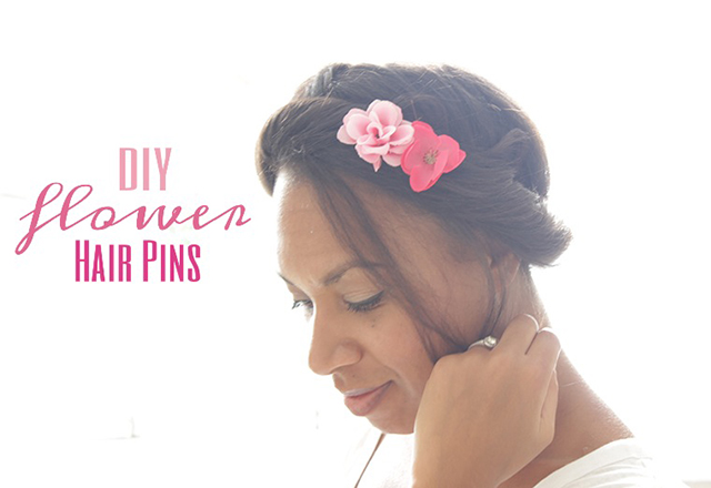 DIY Flower Hair Pins, The way to my hart